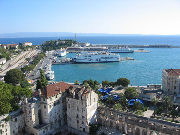 New projects are expected to boost employment. A yacht marooned at Split beach in Croatia.
