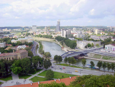 Lithuania has 17.8 per cent unemployment. A view of Vilnius.