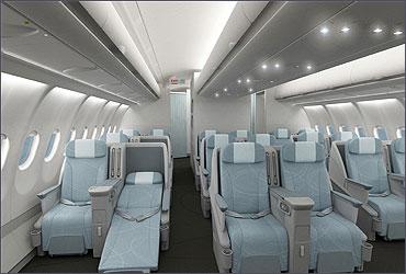 Business Class of Finnair.