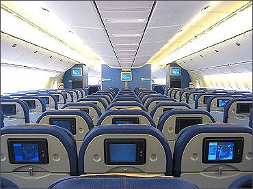 KLM Boeing 777-200ER Economy Class.