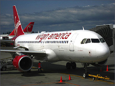 Air Colbert, the aircraft used in Virgin America's inaugural flight.