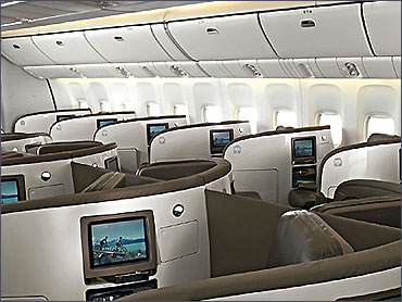 Air New Zealand's Business Premier class.