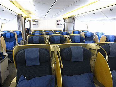 Club ANA business class cabin.