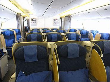 Club ANA business class cabin.