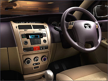 Dashboard of Tata Manza.