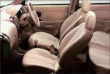 Interior view of Hyundai Accent Executive.