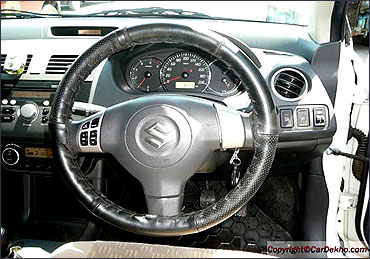 Dashboard of Maruti Swift Dzire.