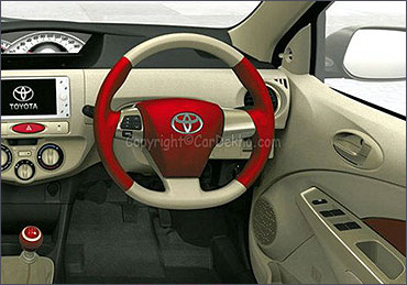 Dashboard of Toyota Etios.