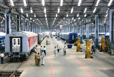 Railway coach manufacturing factory at Kapurthala.