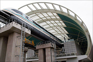 Shanghai's maglev train.