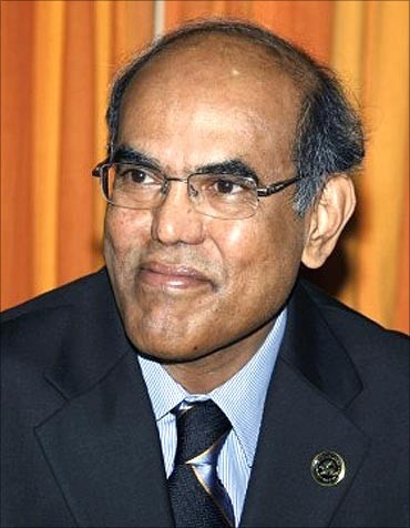Reserve Bank of India (RBI) Governor D Subbarao.