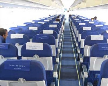 Interior view of IndiGo