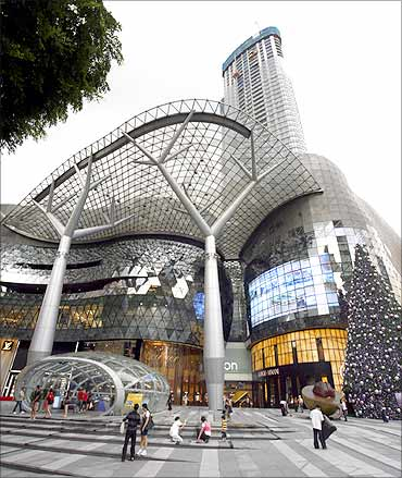 ION Orchard, a mall owned by CapitaMalls Asia.