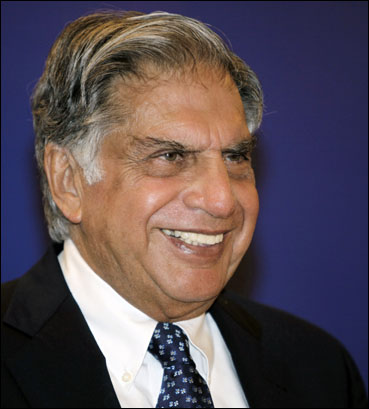 Ratan Tata after receiving the lifetime achievement award for management.