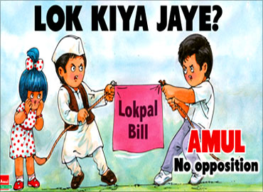 Amul's take on Lokpal Bill.