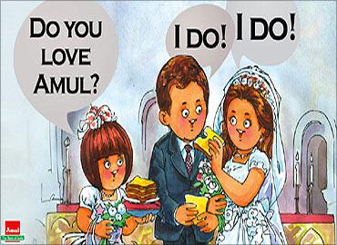 Amul's royal ad.