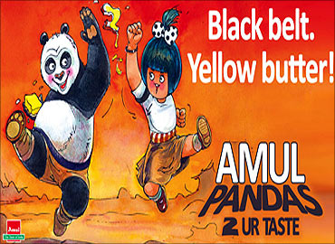 Kung Fu Panda in Amul ad.