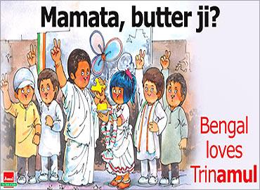 Amul salutes Mamata Banerjee.