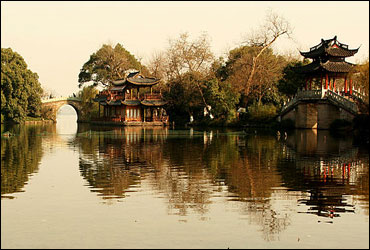 Hangzhou pagoda bridge.