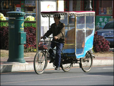 Cycle rickshaw in Shenyang.