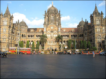 Front facade of the Chhatrapati Shivaji Terminus.