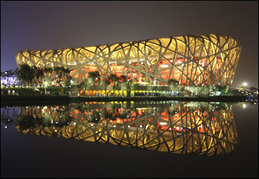 The National Stadium, also known as the Bird's Nest.