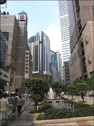 Towncentre of Chongqing, China.