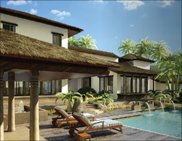 Samira Habitats' villa in Alibaug near Mumbai.
