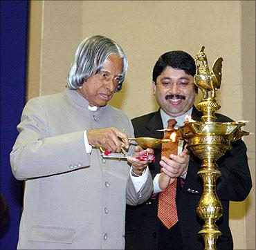 Maran with former President AJP Abdul Kalam.