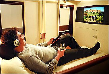 Singapore Airlines' suite.