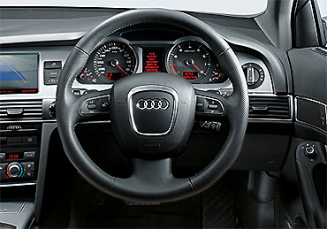 Dashboard of Audi A6.
