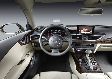Dashboard of Audi A7.
