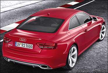 Rear view of Audi RS 5.