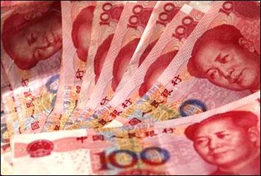 Yuan banknotes.