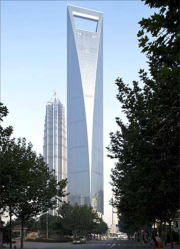 Shanghai World Finance Centre.