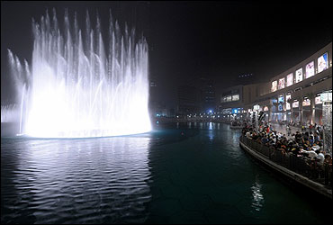 Fountain in the mall.