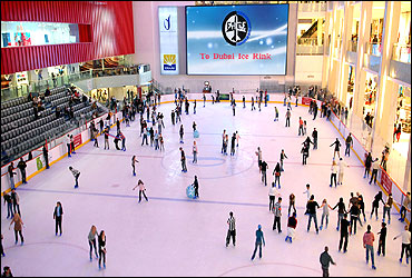 Ice rink at the mall.