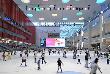 Ice-skating rink.