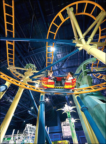 Indoor theme park.