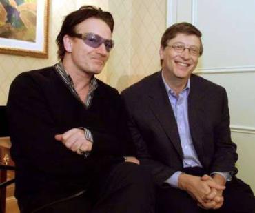 Gates with Bono.