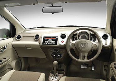 Dashboard of Honda Brio.