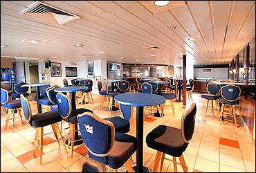 Manhattan Cafe inside the ship.