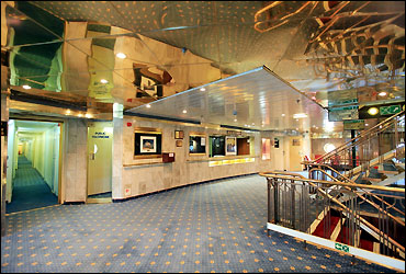 Reception and lobby of the ship.