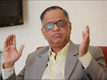 Narayana Murthy during an interview.