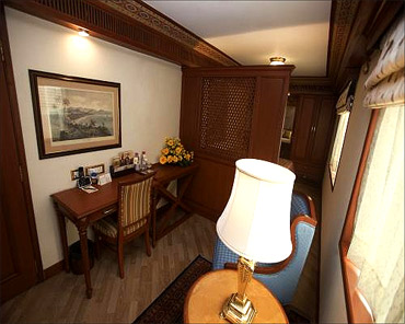 Suite in the Maharajas' Express.