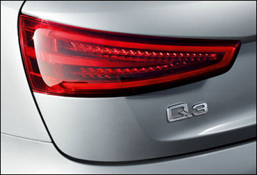 Rear lamp of Audi Q3.