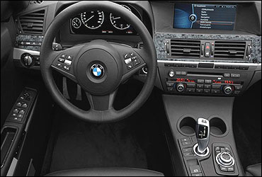 Dashboard of BMW X1.
