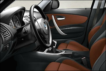 BMW1 Series 5-door hatch's interior.
