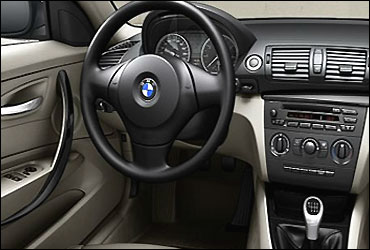 Interior view of BMW 1 Series 5-door hatch.