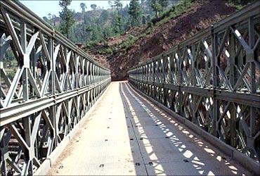 Bailey Bridge of approach road.